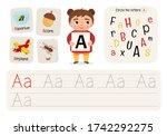 kids learning material.... | Shutterstock .eps vector #1742292275