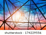 power tower in the sky... | Shutterstock . vector #174229556