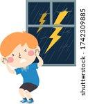illustration of a kid boy... | Shutterstock .eps vector #1742309885