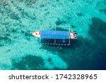 scuba divers underwater tour... | Shutterstock . vector #1742328965