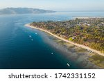 gili air aerial view to... | Shutterstock . vector #1742331152