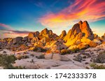 Rocks In Joshua Tree National...
