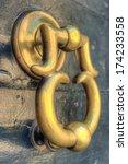 An Old Italian Brass Door...