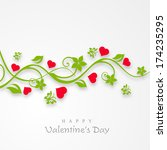 happy valentines day... | Shutterstock .eps vector #174235295