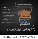 vector chalk drawn sketch of... | Shutterstock .eps vector #1742365775