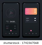 mobile app clock user interface....