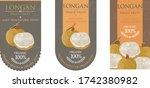 set of vector label with longan ... | Shutterstock .eps vector #1742380982