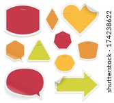 labels and stickers on white... | Shutterstock . vector #174238622