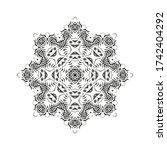 ornamental vector floral... | Shutterstock .eps vector #1742404292