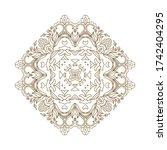 ornamental vector floral... | Shutterstock .eps vector #1742404295