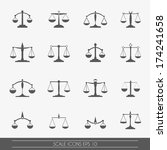scale icons set  vector. | Shutterstock .eps vector #174241658