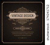 vintage design template. retro... | Shutterstock .eps vector #174241712