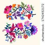 vector oriental motif of... | Shutterstock .eps vector #1742452172