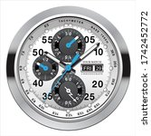 realistic clock watch...   Shutterstock .eps vector #1742452772