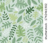 seamless pattern with tropical... | Shutterstock .eps vector #1742461502
