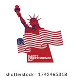 fourth of july independence day ... | Shutterstock .eps vector #1742465318