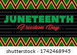 juneteenth freedom day. african ... | Shutterstock .eps vector #1742468945