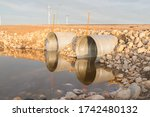 Two Steel Culverts Surrounded...