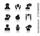 emotion drop shadow black glyph ... | Shutterstock .eps vector #1742488985