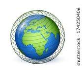 world globe map. global...   Shutterstock .eps vector #174250406
