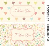 set of retro cute hearts... | Shutterstock .eps vector #174252026