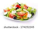 Fresh Vegetable Salad Isolated...