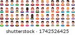 people icons set avatar profile ...   Shutterstock .eps vector #1742526425
