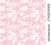 elegant floral pattern in small ... | Shutterstock .eps vector #1742529305