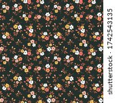 cute floral pattern in the... | Shutterstock .eps vector #1742543135