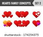 hearts family concepts. set 2....   Shutterstock .eps vector #174254375
