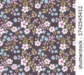 simple cute pattern in small... | Shutterstock .eps vector #1742545412