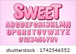 sweet lettering text style for...   Shutterstock .eps vector #1742546552