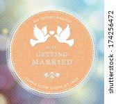 vector wedding card or... | Shutterstock .eps vector #174256472