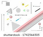 abstract banner with portfolio... | Shutterstock .eps vector #1742566505