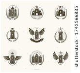 Ancient Castles Emblems Set....