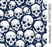 Skulls Seamless Pattern  Vector ...