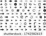 arrows set of 100 black icons... | Shutterstock .eps vector #1742582615
