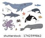 vector set bundle of colored...   Shutterstock .eps vector #1742599862