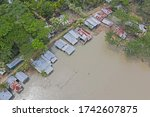 Aerial View Of Devastated...