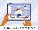 culinary video broadcast ... | Shutterstock .eps vector #1742638772