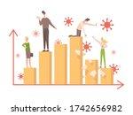 bar graph during coronavirus...   Shutterstock .eps vector #1742656982