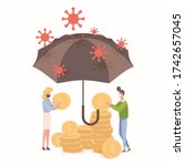 people protect savings from...   Shutterstock .eps vector #1742657045
