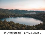 Mountain Landscape  Lake And...