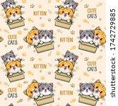 Cute Kitten Cats Pattern...