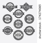 set of retro vintage badges and ... | Shutterstock .eps vector #174274085