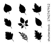 set of black silhouettes of... | Shutterstock .eps vector #1742747912