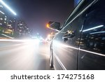 car on the road with motion... | Shutterstock . vector #174275168