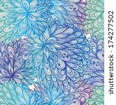 seamless floral vintage blue... | Shutterstock .eps vector #174277502