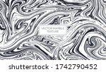 black and white marble vector... | Shutterstock .eps vector #1742790452