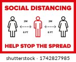 Social Distancing 2 Meters 6ft...